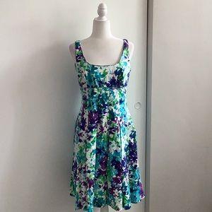 NWT Ralph Lauren floral watercolor midi dress